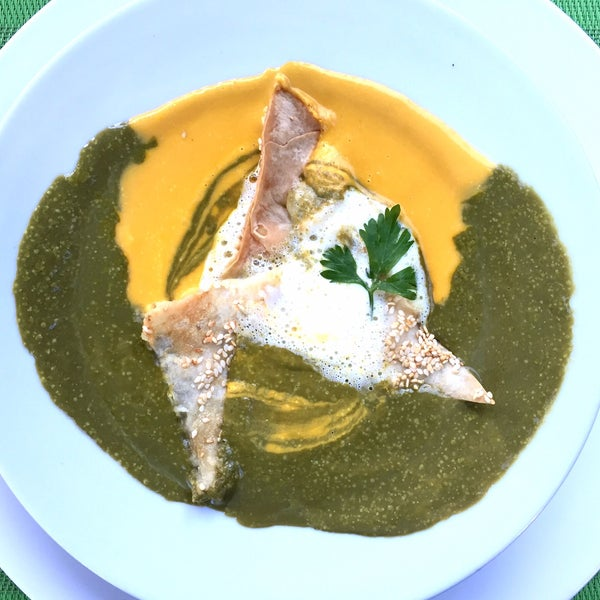 Nice traditional food, cozy atmosphere, best sitting outside on the terrace. Try spinach carrot soup with lemon.
