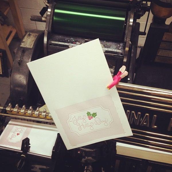 Photo taken at Dolce Press (Design & Letterpress) by Alexandra S. on 10/21/2013