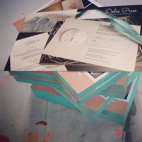 Photo taken at Dolce Press (Design & Letterpress) by Alexandra S. on 10/17/2013