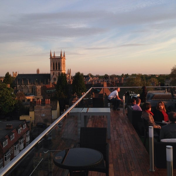 The Varsity Hotel Roof Terrace Roof Deck In Cambridge