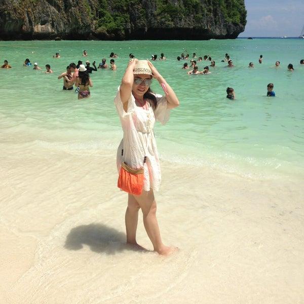 Photo taken at Phi Phi Island by chanida u. on 5/25/2014