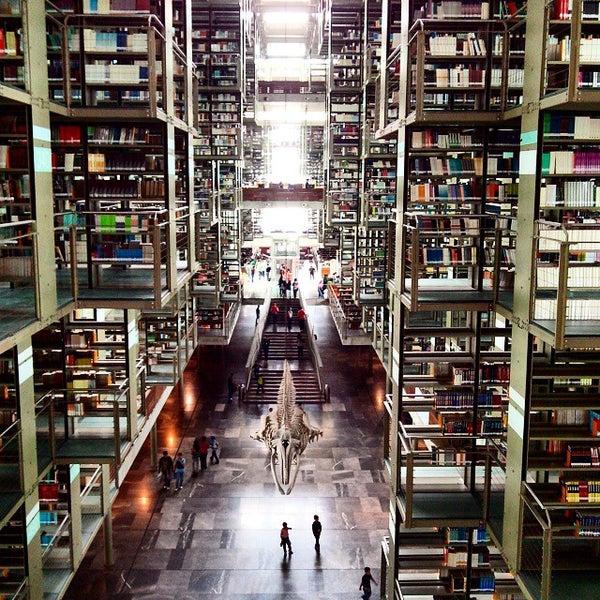 Photo taken at Biblioteca Vasconcelos by Patricia O. on 9/6/2014