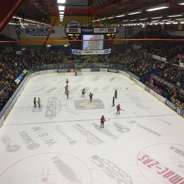 Photo taken at Zimní stadion Luďka Čajky by Kačka on 3/13/2016
