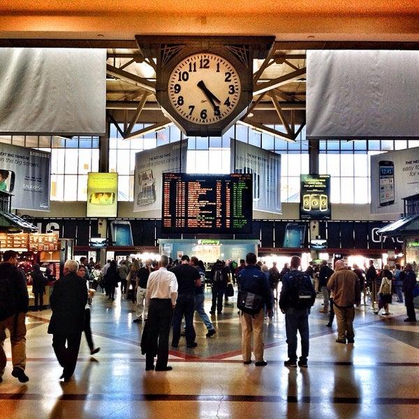 Photo taken at South Station Terminal (MBTA / Amtrak) by Ukemeabasi E. on 9/27/2013