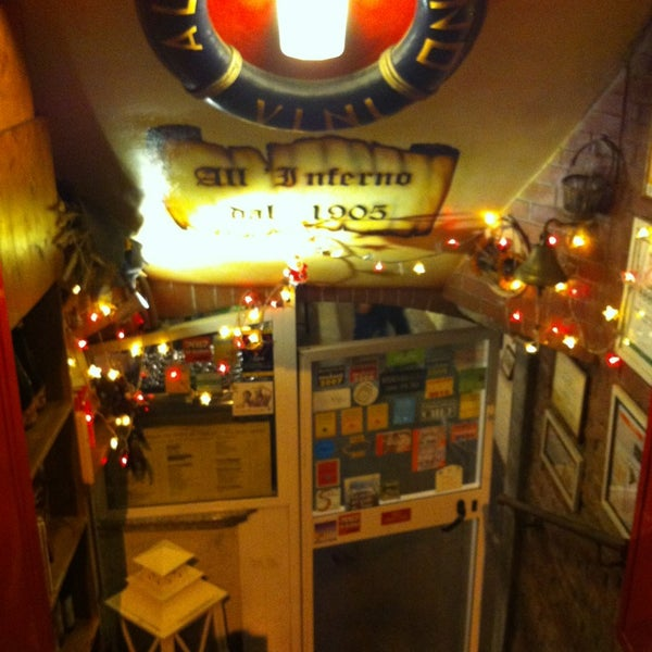 Photo taken at Osteria All'Inferno Dal 1905 by Toso on 12/28/2012