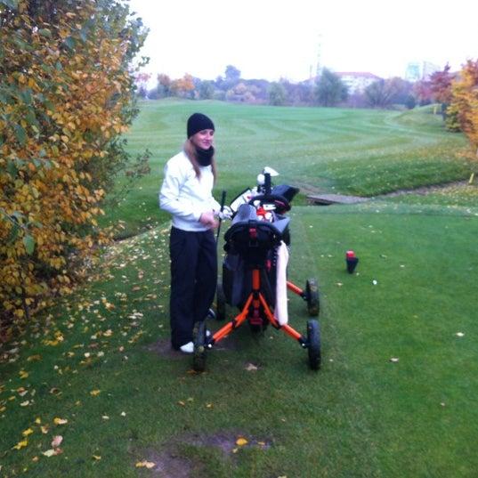 Photo taken at Golf Hostivař by Marta on 10/25/2012
