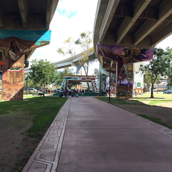 Photo taken at Chicano Park by Tim N. on 3/30/2014