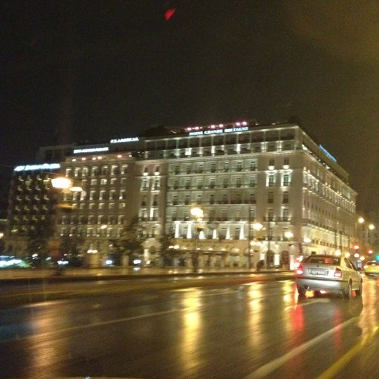 Photo taken at Hotel Grande Bretagne by Νίκος - ReNe N. on 11/19/2012