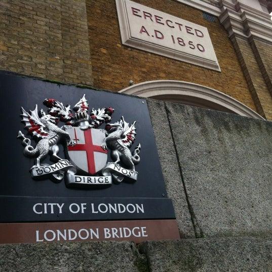 Photo taken at London Bridge by simon e. on 12/31/2012