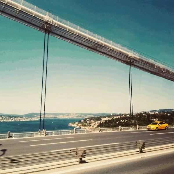 Photo taken at Fatih Sultan Mehmet Bridge by Melis E. on 5/9/2015