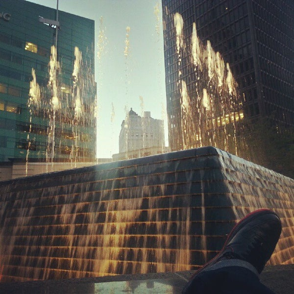 Photo taken at Campus Martius by Charlie R. on 9/12/2012