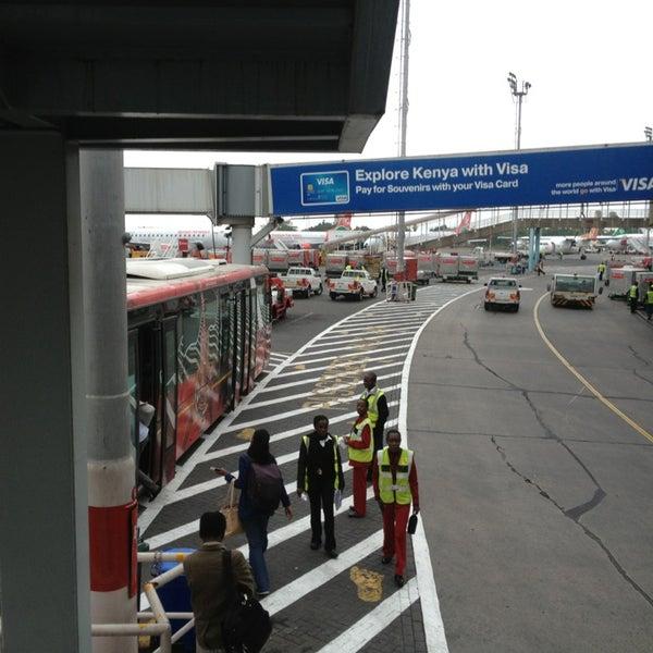 Photo taken at Jomo Kenyatta International Airport (NBO) by Radoslav R. on 12/18/2012