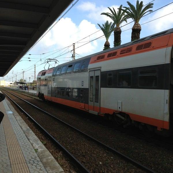 Photo taken at Gare de Mohammédia  محطة المحمدية by Marc L. on 1/26/2013