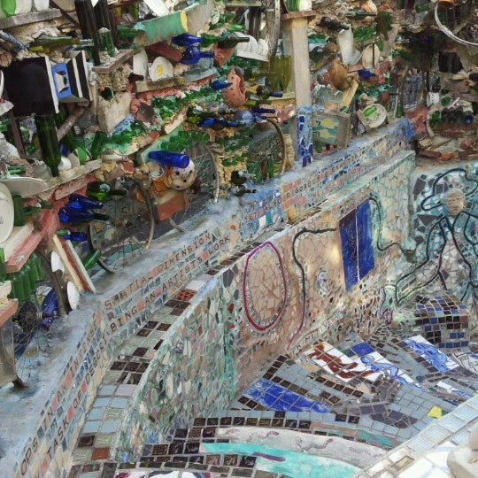 Photo taken at Philadelphia's Magic Gardens by Bryan N. on 9/26/2012