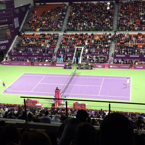 Photo taken at Qatar Tennis Federation by Alex F. on 2/16/2014