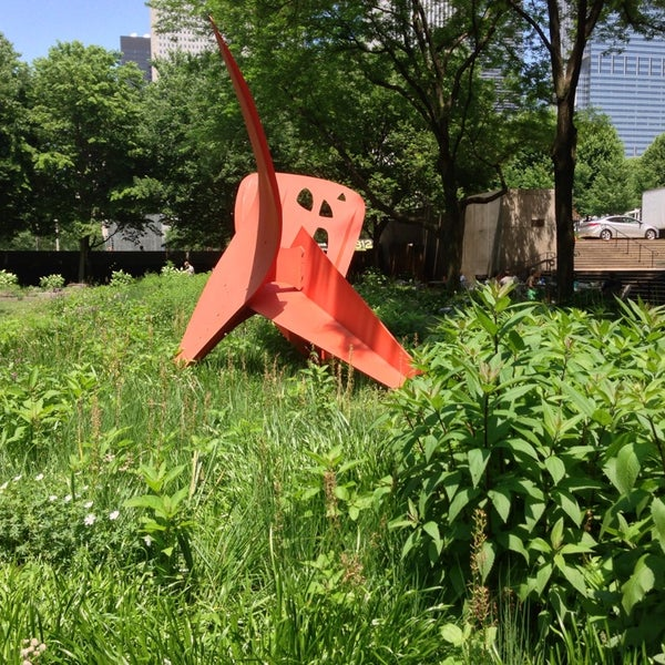 Photo taken at Sculpture Garden - Art Institute of Chicago by Aatif I. on 6/24/2013