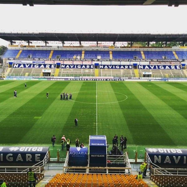Photo taken at Stadio Ennio Tardini by Giovanni C. on 4/17/2016