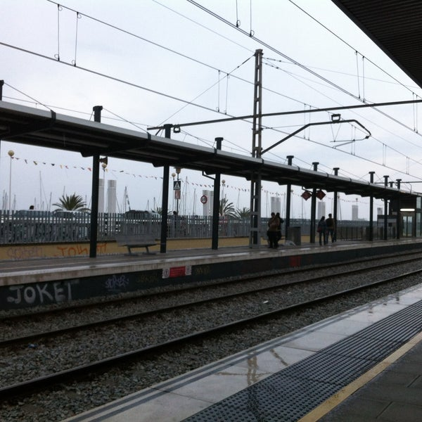 Photo taken at RENFE El Masnou by David G. on 4/26/2013