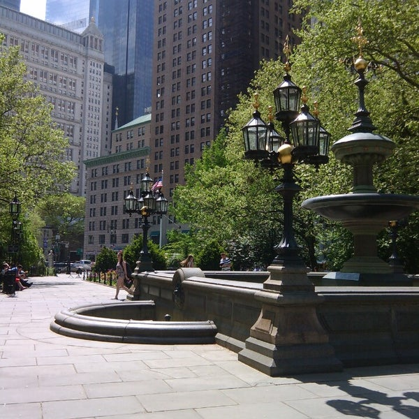 Photo taken at City Hall Park by Cedric S. on 5/12/2014