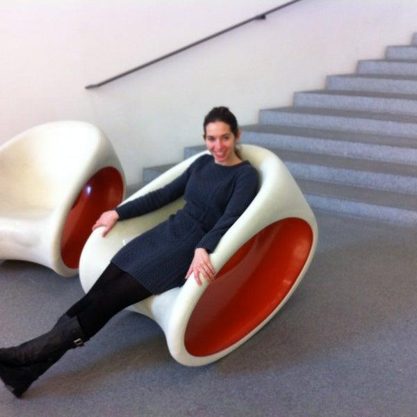 Photo taken at Pinakothek der Moderne by EliVillasante on 1/27/2013