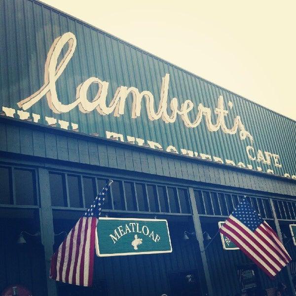 Photo taken at Lambert's Cafe by Ryan B. on 5/12/2012