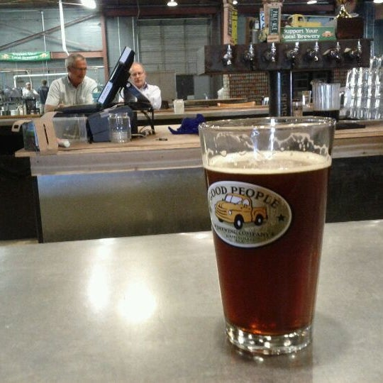 Photo taken at Good People Brewing Company by André N. on 3/14/2012