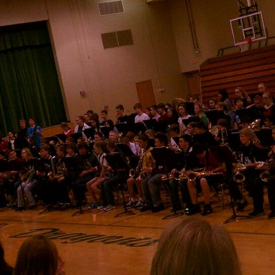 Photo taken at Gretna Middle School by Dan H. on 3/9/2012