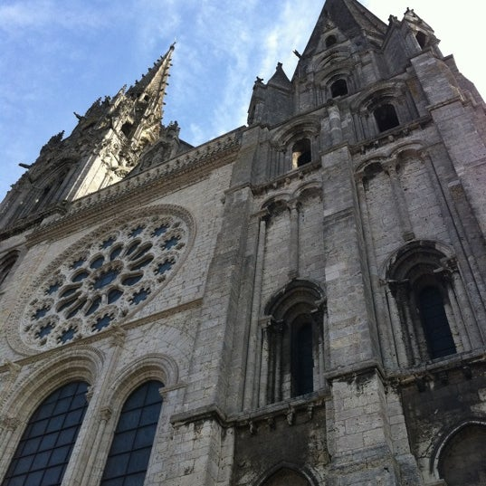 Photo taken at Cathedral Basilica of Our Lady by Chartres T. on 8/21/2012