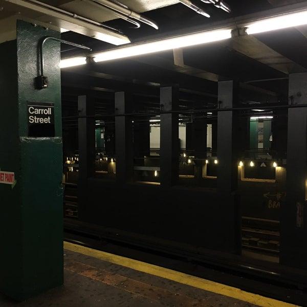 Photo taken at MTA Subway - Carroll St (F/G) by SirSirAaron [. on 2/26/2017