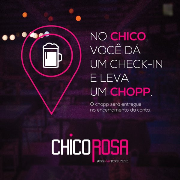 Check in no Chico = Chopp 👍🏼🍺🍻