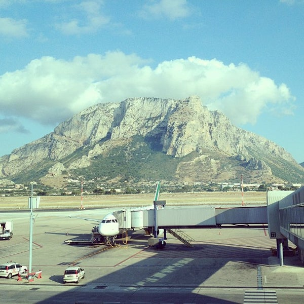 Photo taken at Palermo Airport (PMO) by Yuki O. on 7/16/2013