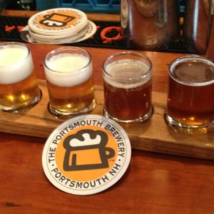 Photo taken at Portsmouth Brewery by Kimberly M. on 1/19/2013