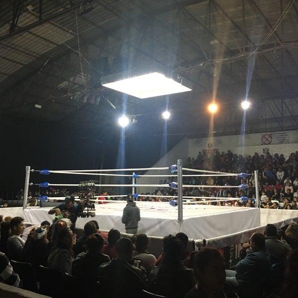 Photo taken at Arena Adolfo Lopez Mateos by Ixuh M. on 9/3/2017