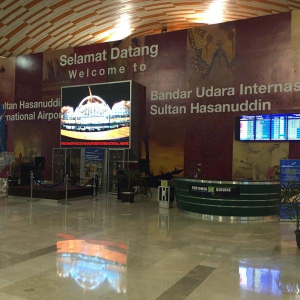 Photo taken at Sultan Hasanuddin International Airport (UPG) by Yulianus L. on 11/4/2015