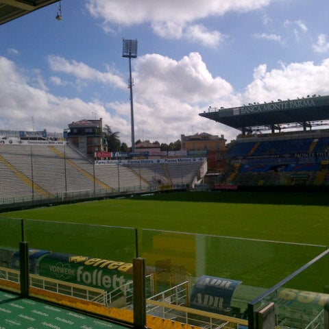 Photo taken at Stadio Ennio Tardini by Fabio A. on 9/20/2012