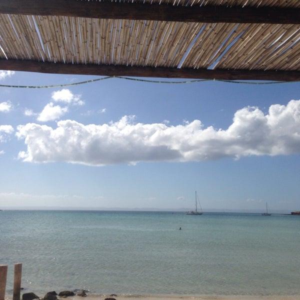 Photo taken at Playa Pichilingue by Teresa H. on 11/19/2014