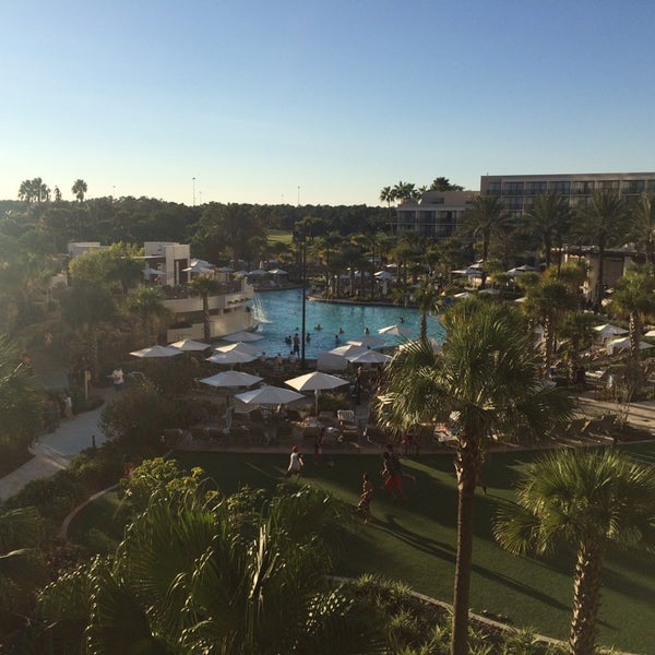 Photo taken at Marriott World Center Pool by Tyler W. on 10/25/2014