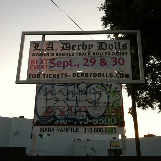 Photo taken at Doll Factory (L.A. Derby Dolls) by Paul G. on 9/30/2012