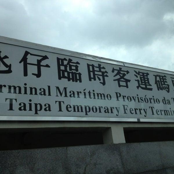 Photo taken at Taipa Ferry Terminal by bird b. on 5/18/2013