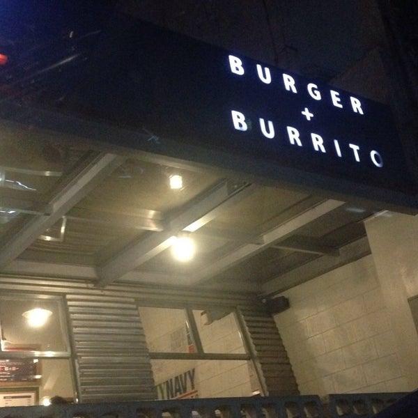 Photo taken at Army Navy Burger + Burrito by Tynn P. on 11/28/2014