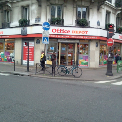 office depot - paper / office supplies store in batignolles