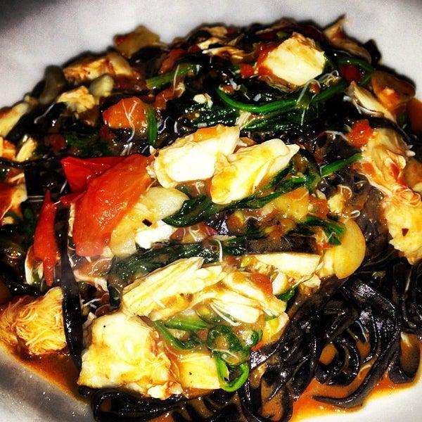 Photo taken at Luce Restaurant & Enoteca by Jannie on 10/27/2012