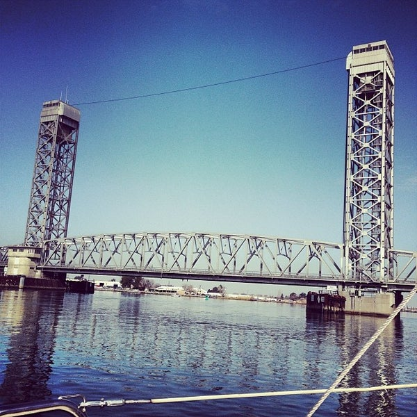Photo taken at Rio Vista Bridge by Charles D. on 1/24/2014