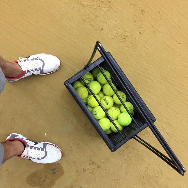 Photo taken at Central Park Tennis Club by Чекин Ч. on 11/15/2014