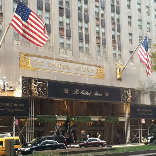 Photo taken at Waldorf Astoria New York by Barbara D. on 11/23/2012