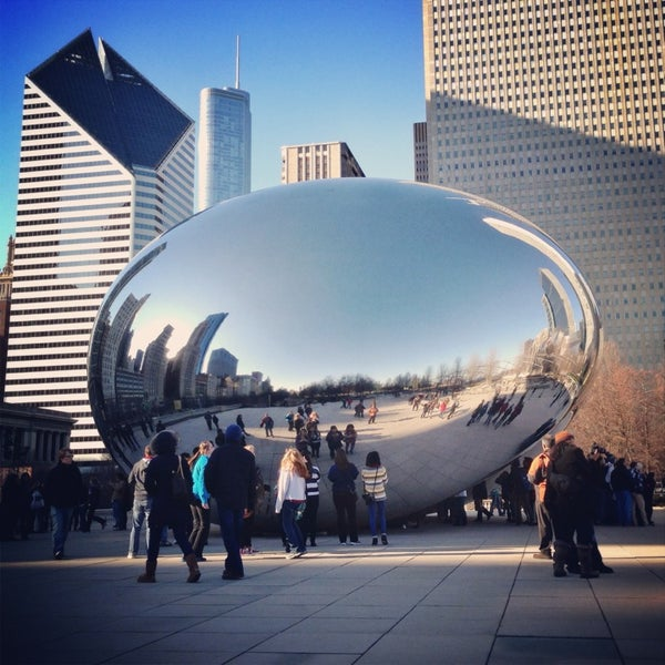 Photo taken at Cloud Gate by Anish Kapoor by Ben B. on 3/22/2013