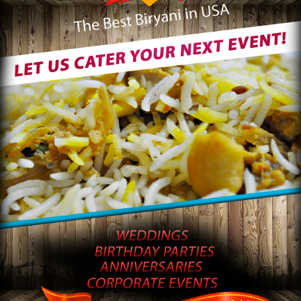 Call us for the Best Biryani #Catering in the USA.  Schedule your event and check our availability today.
