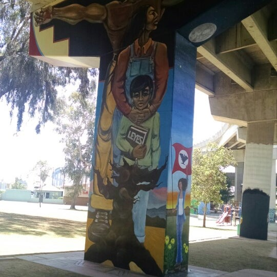 Photo taken at Chicano Park by Tim L. on 5/10/2015
