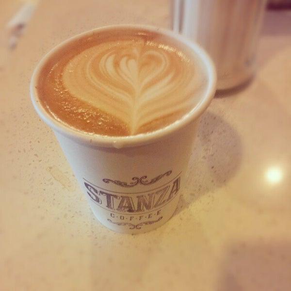 Photo taken at Stanza Coffee Bar by Gabriela J. on 12/20/2012