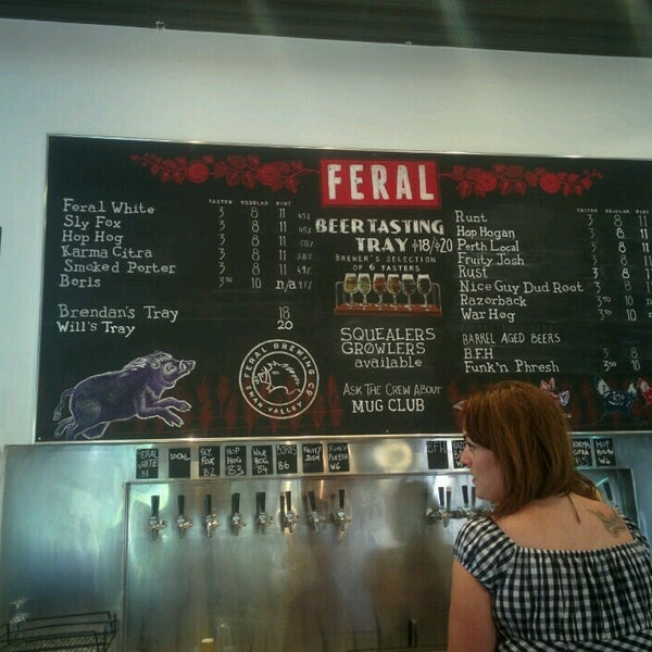 Photo taken at Feral Brewing Company by Leila .. on 11/14/2016